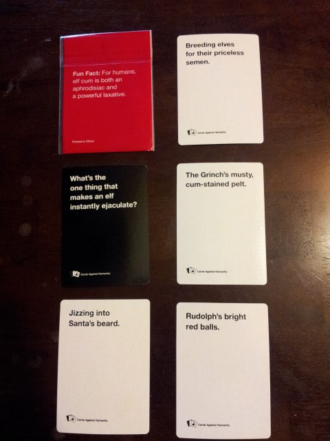On The Seventh Day Of Christmas Cards Against Humanity