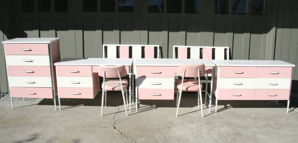 1960s Bedroom Furniture sugary-sweet 1960s bubblegum pink & white furniture listed on