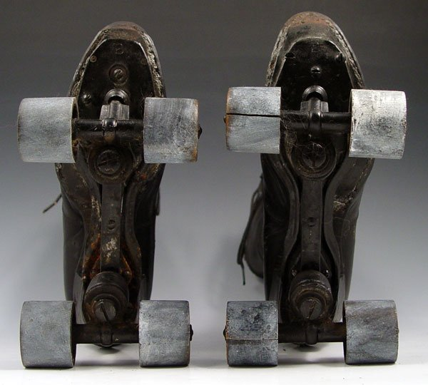 Bottom of Victorian roller skates