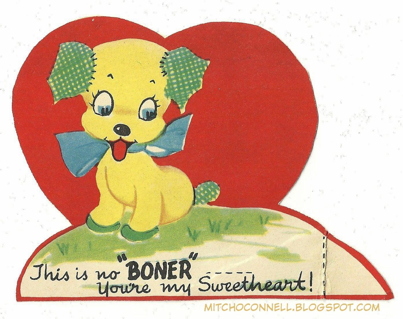 Strange double entendre vintage Valentines Day cards – Vintage Valentines Cards