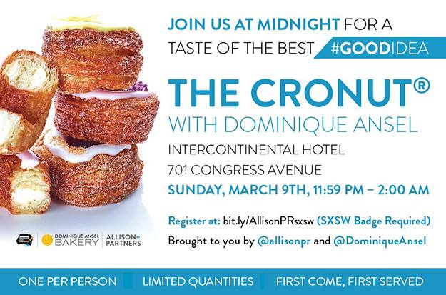 The Cronut party