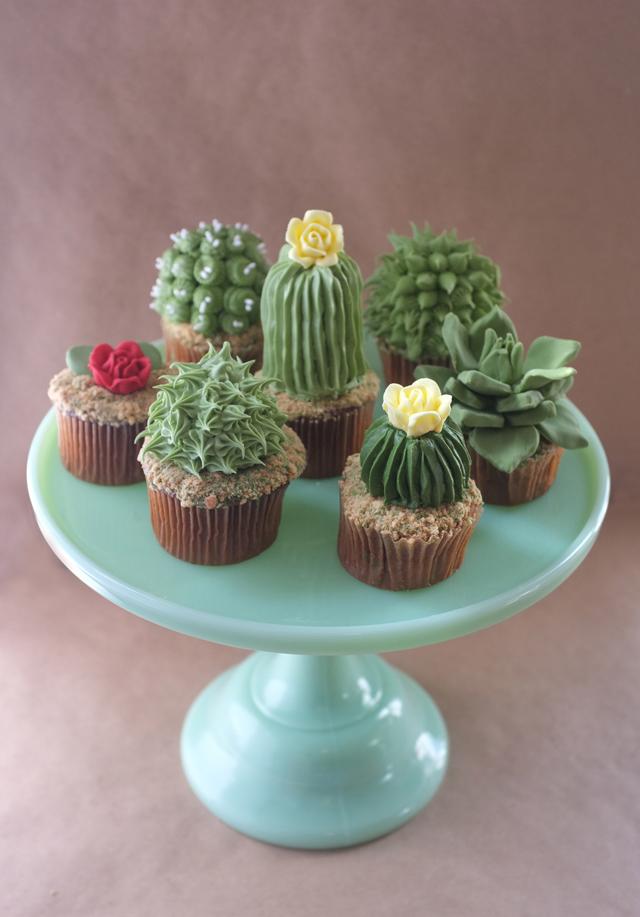cactus cupcakes