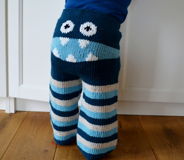 Crochet Pattern Baby Monster Pants : Rawr! These ?Chewy-Botty? pants turn your baby into an ...