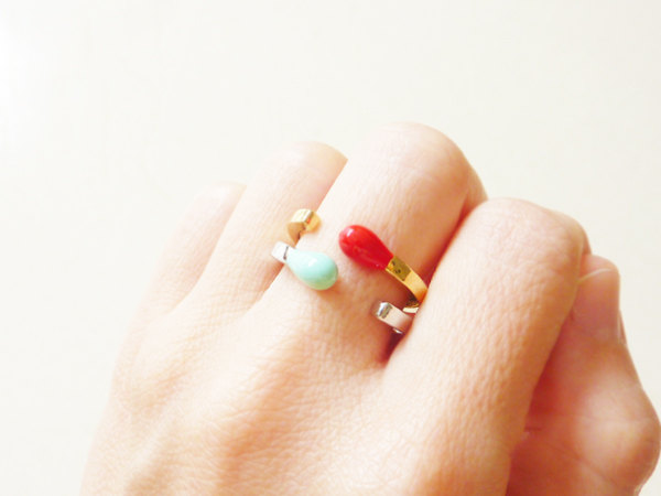 Matchstick rings on hand
