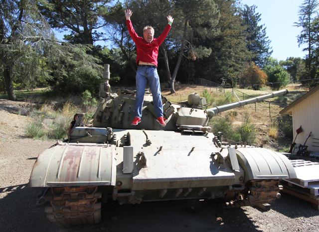 Robert-Scoble-jumping-on-a-tank-by-Rusty-Blazenhoff