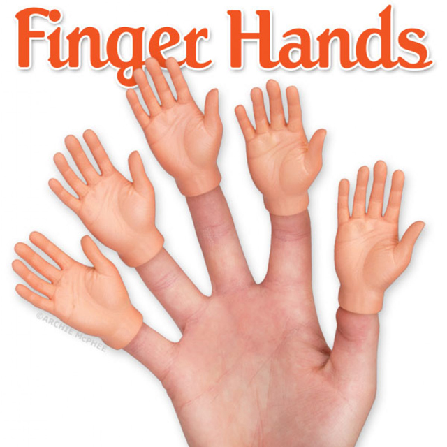 Finger hands on real fingers