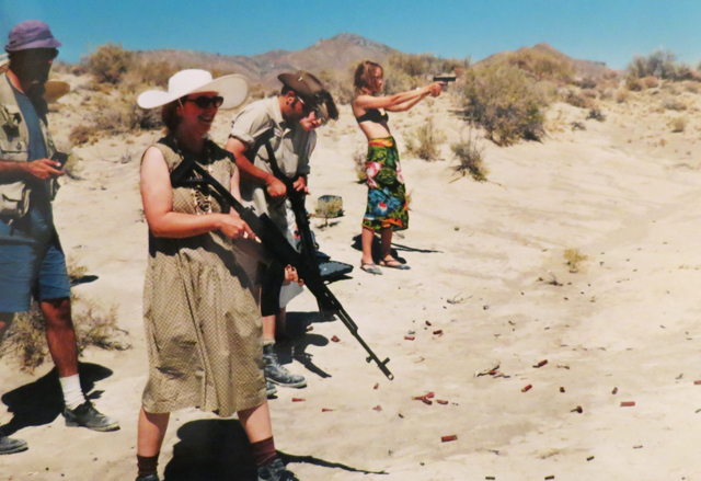 Shooting guns at Burning Man