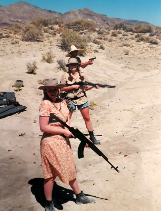 Shooting guns at Burning Man in 1996