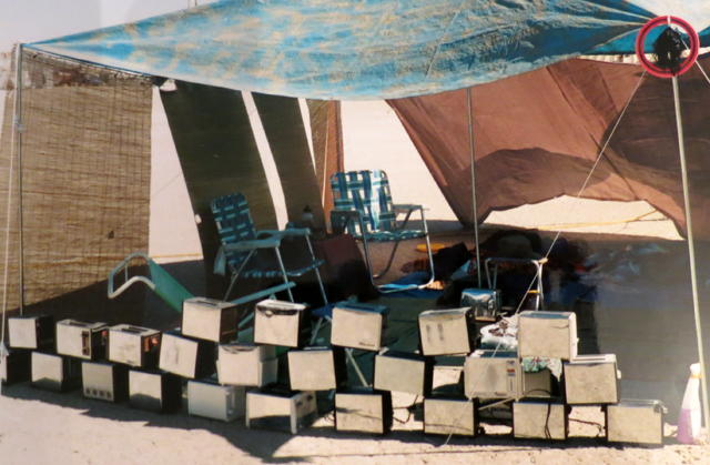 Veektoastia's camp of toasters in 1996