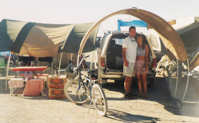Rusty and Michelle at Burning Man 1996