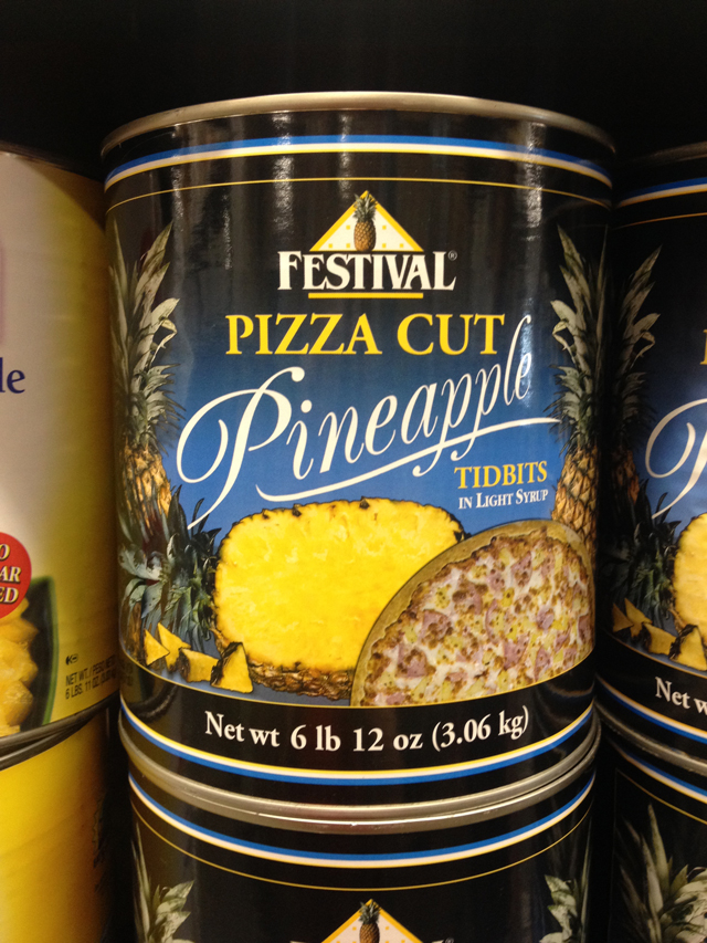 Pizza Cut Pineapple for pizza