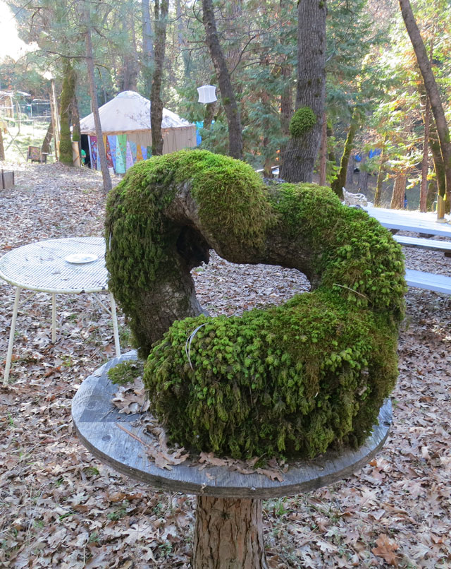 Mossy-sculpture