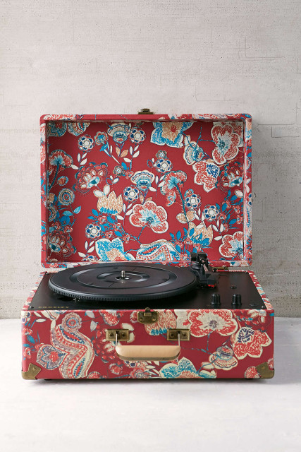 Floral record player