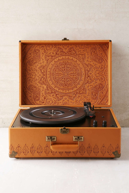 Embossed record players