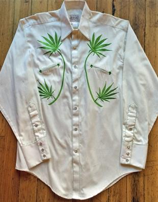 Cannabis Cowboy Western shirt by Rockmount